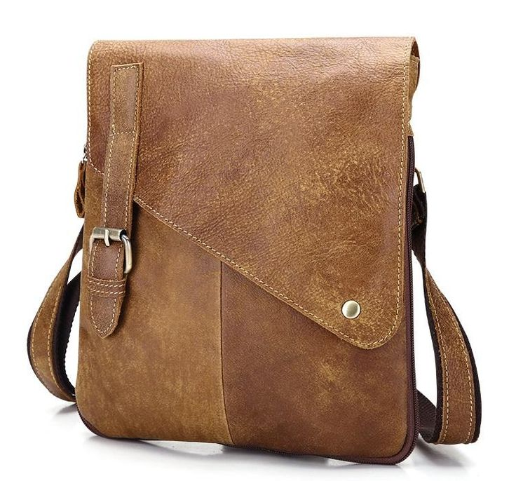 Men,s Genuine Vintage Leather Designer Style Messenger Bag(new 2) Quality leather for just £39.99