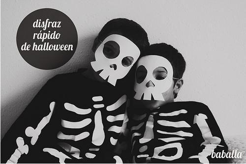 Halloween: disfraz de esqueleto rápido de hacer