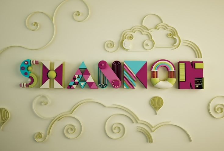 How to create colourful typography that appears to made from parts of children's toys and cut paper.