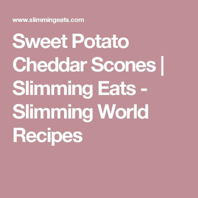 Sweet Potato Cheddar Scones | Slimming Eats - Slimming World Recipes