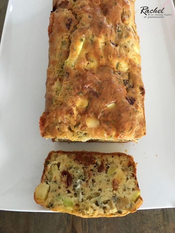 Cake courgettes, tomates séchées et chèvre