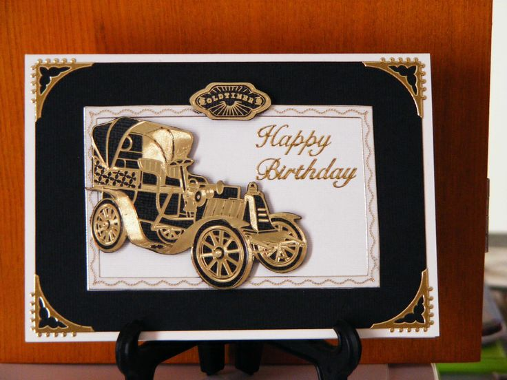 Another old car birthday card