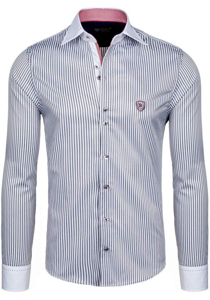 Pánská košile BOLF 4784-1 šedá ŠEDÁ | Pánská móda \ Pánské košile \ Košile dlouhý rukáv Pánská móda \ Pánské košile \ společenské Pánská móda \ Pánské košile \ kancelářské Pánská móda \ Pánské košile \ proužkované Premium Przecena 15% | Bolf - Internetový Obchod s Oblečením | Oděv | Oblečení | Kabáty | Bundy