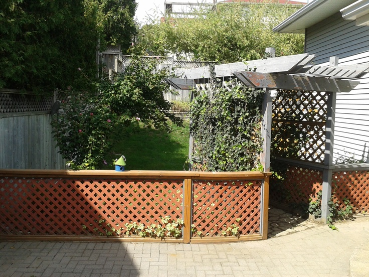 Paving stone patio with Arbour and surrounding gardens. Great for summer BBQ and relaxing