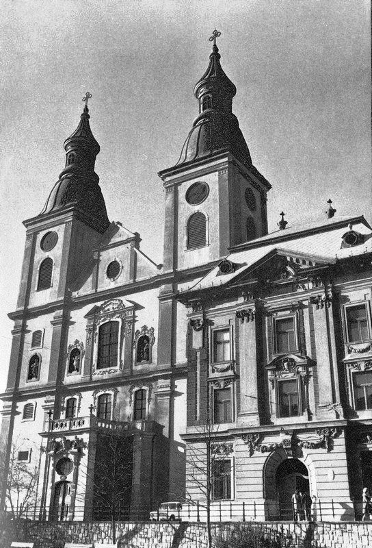Eger, Szent Bernát Ciszterci Borgia Szent Ferenc templom és rendház 1970-es évek