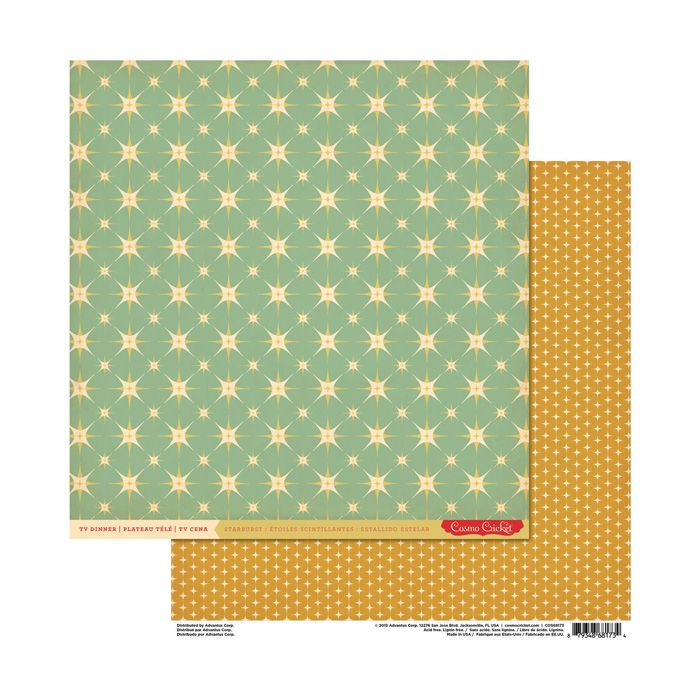 Cosmo Cricket - TV Dinner Collection - 12 x 12 Double Sided Paper - Starburst at Scrapbook.com $1.09