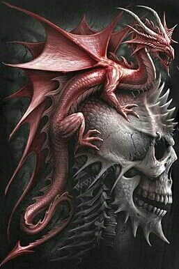 Dragon Skull... all I can say is Ow! it must have hurt to be the guy with all the  spikes.  ...Carol