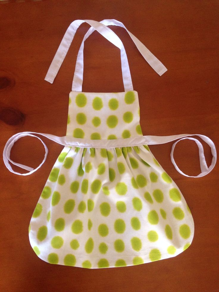 Green Spotted Apron