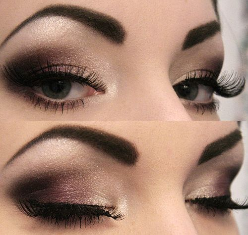 Smoky eye. Easy to do but make sure you have the right brushes. Use a tad bit of Chapstick as eyelid primer! Cheaper and lasts longer