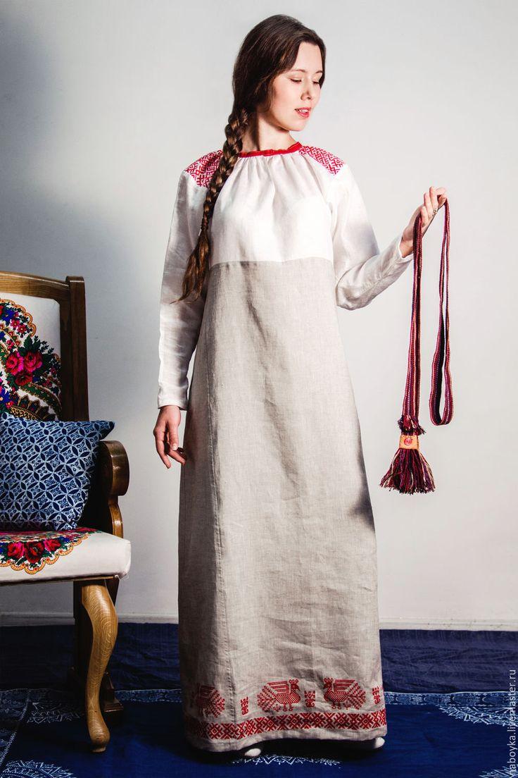 """Купить рубаха """"Русский Север"""" - белый, орнамент, рубаха в русском стиле, рубаха в славянском стиле"""
