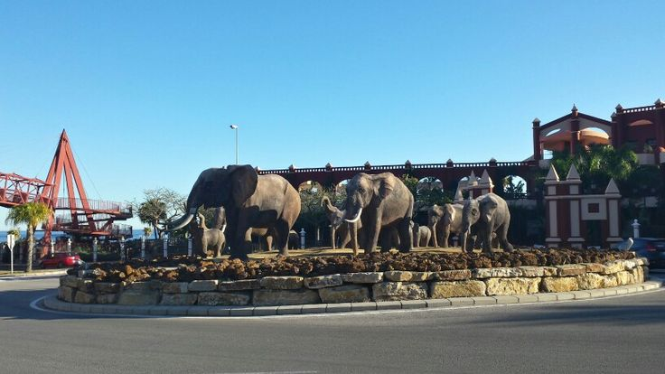 Elephants in the roundabout between #Fuengirola and #Benalmadena on Costa del Sol!  This is just one of many beautiful and exciting things to see on Costa del Sol. If you are thinking of moving to Spain, Innovative Property can help you find your dream home - www.inproperty-spain.com