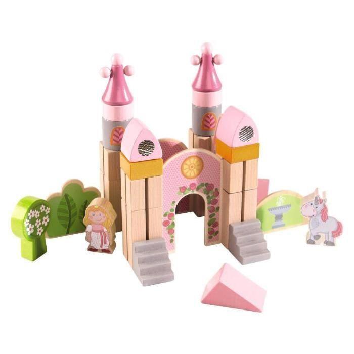 Blocs de construction en bois : Petit chateau - Construisez un magnifique château en bois avec ces blocs de construction !  Contenu : 37 pièces.  Créez un monde féérique et ré…Voir la présentation