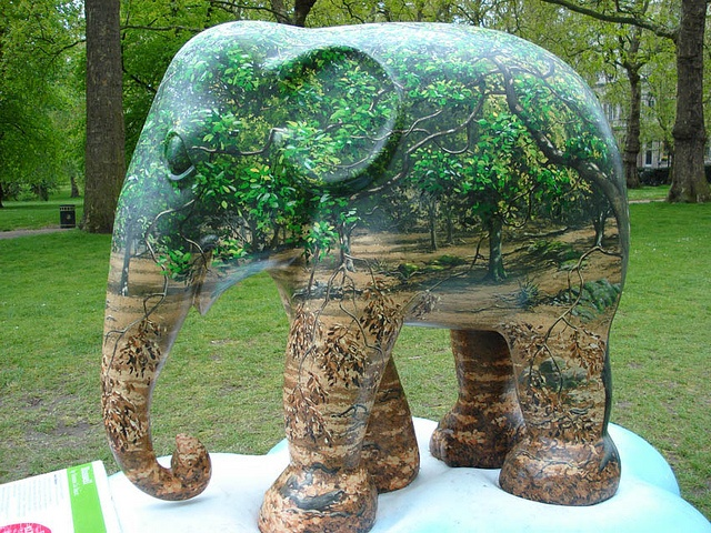 'Russell' by Graeme le Saux - Elephant Parade in London, England;  photo by .Ines, via Flickr