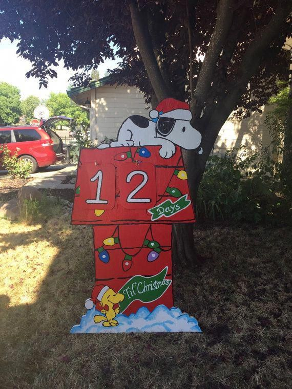 Snoopy Christmas Outdoor-Snoopy Yard Cutout by CreativChick  #christmasoutdoorsdecorationslights - Snoopy Christmas Outdoor-Snoopy Yard Cutout By CreativChick