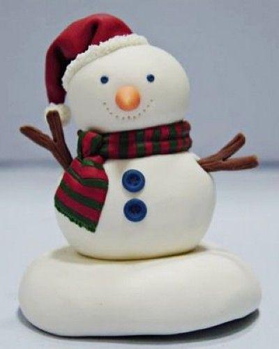 Boneco de neve de biscuit passo a passo - ARTESANATO PASSO A PASSO!