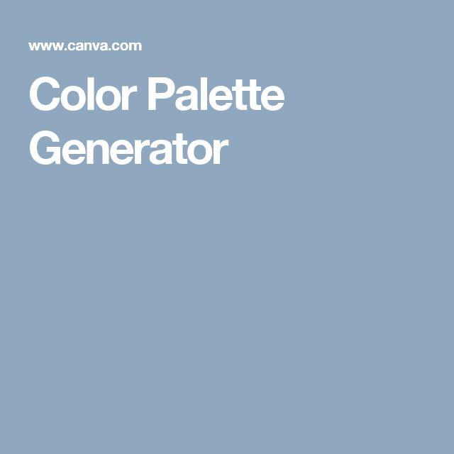 Color Palette Generator