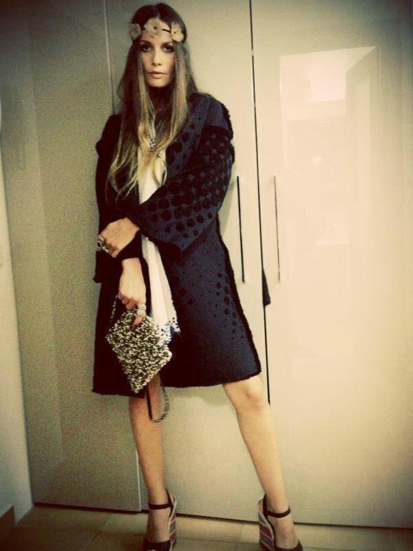 Folk Inspired Couture Coat by Romanian designer Adrian Oianu