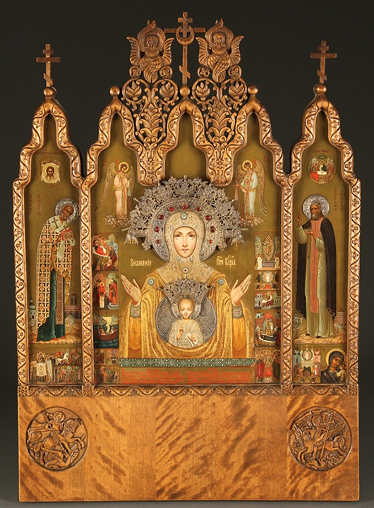 Rare Faberge Icon Triptych Goes to Auction An extremely ...