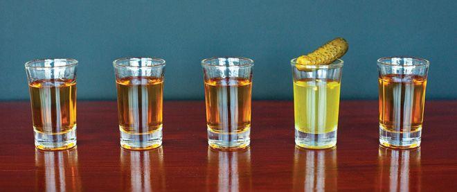 Patron Tequila & pickle juice shots! yum! #Florida Hooker #Saints & Sinners. Love this shot!!!