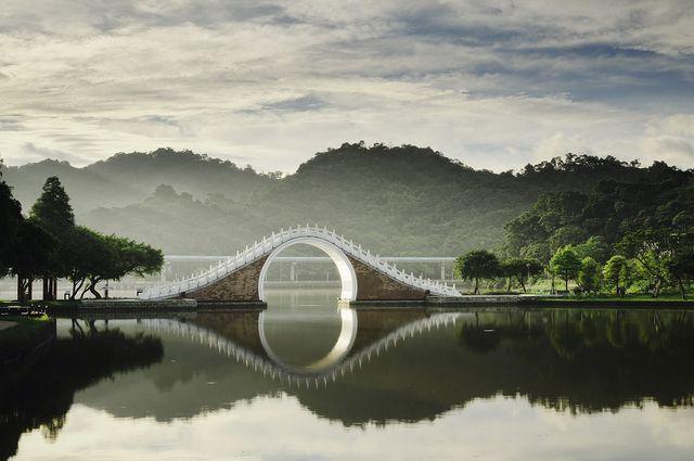 大湖公園日出