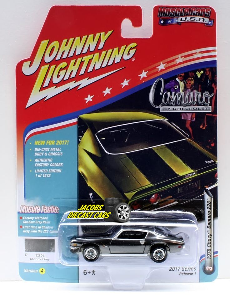 1:64  JOHNNY LIGHTNING MUSCLE CARS USA 2017 SERIES 1A - 1970 CHEVY CAMARO Z28 -  #JohnnyLightning #Chevrolet