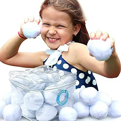 aGreatLife Indoor Snowball Fight Kit - Have Hours Of Fun With This Pack Of Snow Anytime! A Cool Toy For Games And Activities That Never Melt - Safe For All Ages, http://www.amazon.com/dp/B01JJ1YQF0/ref=cm_sw_r_pi_awdm_x_LsC-xbC0RVYHM