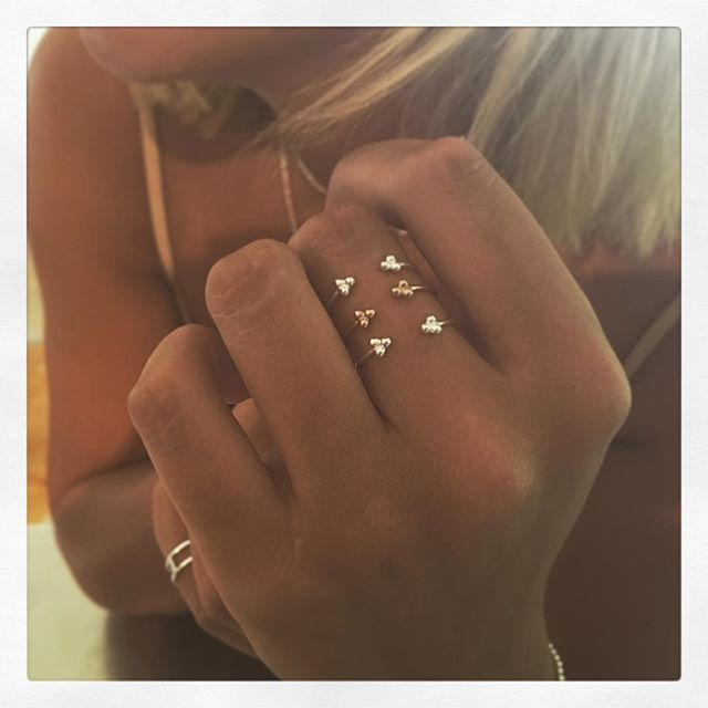 Mini Dot Rings in Silver & Rose Gold   www.gmssilver.com