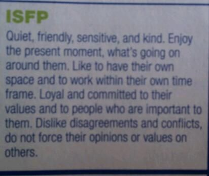 dating an isfp personality type Istj dating isfp istj relationships may lack the abundance istj dating isfp of affection that other personality types sore tender breast symptoms may experience, istj dating isfp but these.
