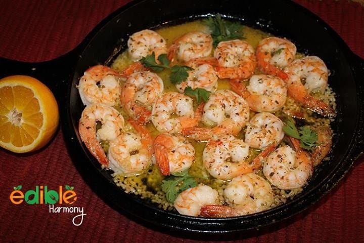 Camarones al mojo de ajo   (Garlic Shrimp)  #EdibleHarmony