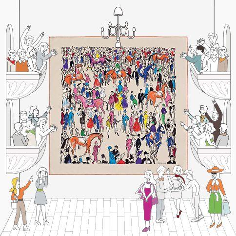 Our silk twill 90 scarves www.lamaisondescarres.com #LaMaisonDesCarres #HermesSilk