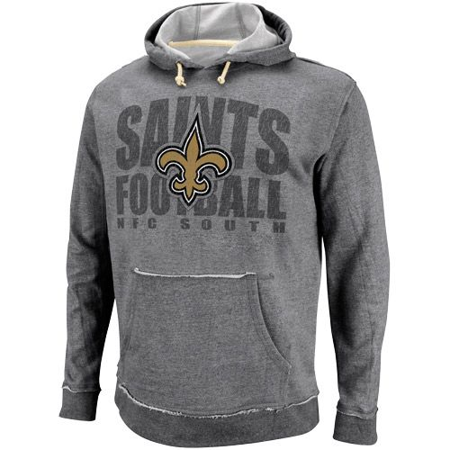 NFL New Orleans Saints Crucial Call Heathered Hoodie - Ash