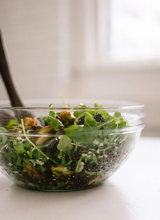 Roasted Broccoli, Arugula and Lentil Salad Recipe by cookieandkate.com