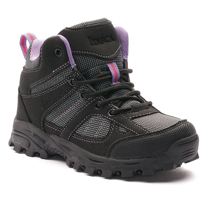 Itasca Stella Girls' Hiking Boots, Size: 4, Black