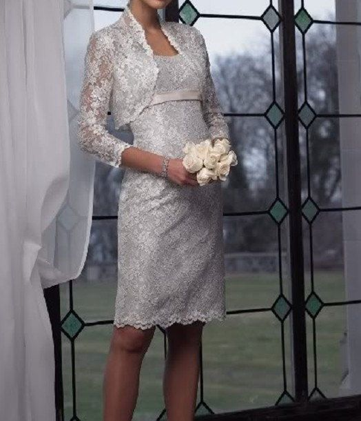 Gray lace mother of the brides dresses plus size by VEIL8 on Etsy