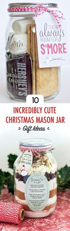 These are the most incredibly cute Christmas mason jars!