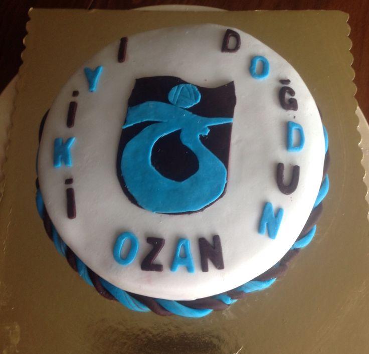 Ozan'a yaptığım doğum günü pastası...