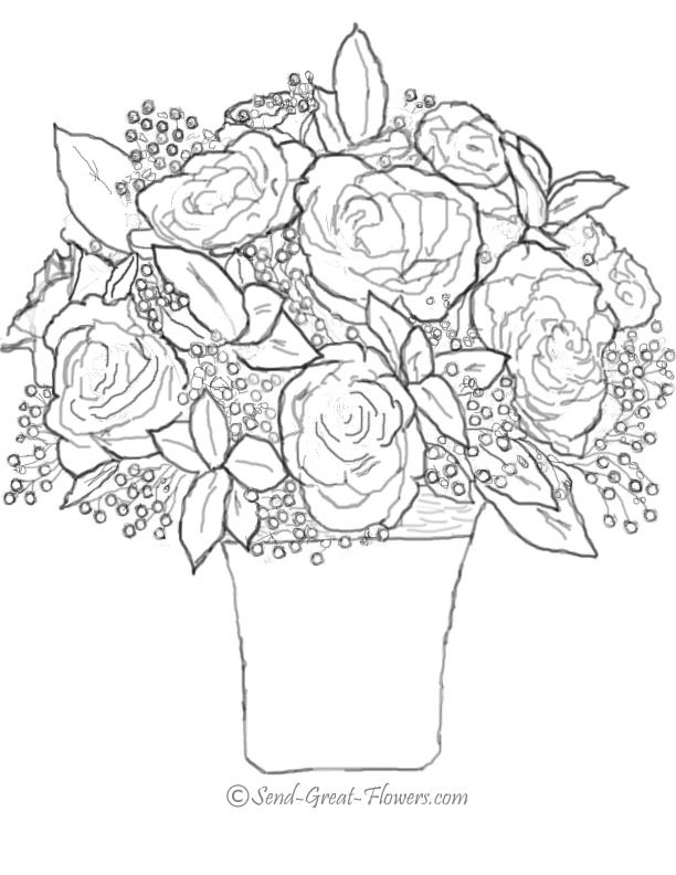 fall flower coloring pages - photo#27