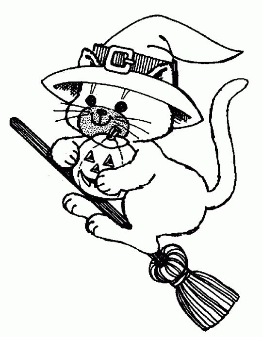 Scary Halloween Cat Coloring Pages Archives Gallery Coloring Page