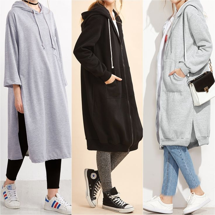 Longline Modest Sweatshirts - Prices & Stores                                                                                                                                                                                 More