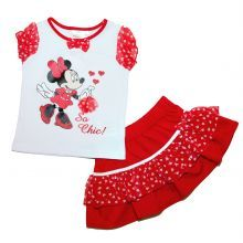 Set 4 Bluza MS-fusta Minnie - rosu