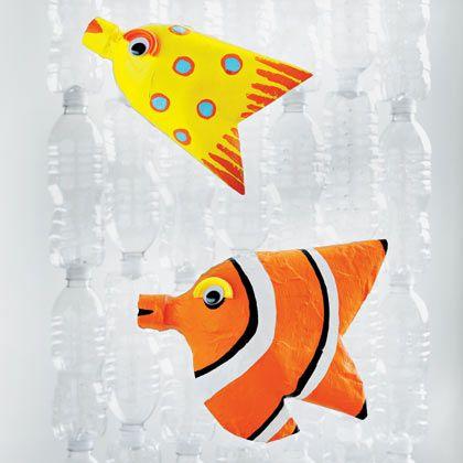 Tropical Bottle Fish | Crafts | Spoonful. 2 liter and 20 oz soda bottles