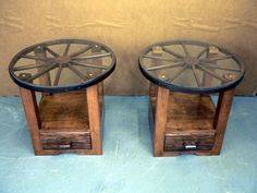 Wagon Wheel End Tables