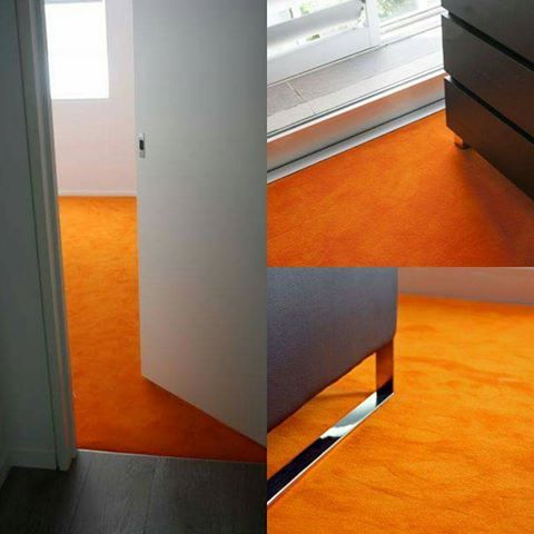 Love a splash of colour in your life? Annabelle is a dense cut pile wool carpet, you are sure to make a statement. #carpet #orangeisthenewblack #carpetpile #apartmentdecor #interiordesign