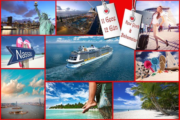 """Bahamalar sözcüğü İspanyolcadan gelir ve Türkçe karşılığı """"sığ su"""" anlamındadır. Karayip adalarının bir parçasıdır. Dupduru, ışıltılı mavi denizi, cezbedici sahilleri ve tropik güneşi Bahamaları muhteşem bir tatil yeri haline getirmiştir. 11 Gece, 12 Gün Süren Turumuz Size Muhteşem Denizin ve Kumun Tadını Çıkarma Fırsatı Veriyor.  http://outgoing.turaturizm.com/index/detay/83/1283/11880/11/14/quantum-ofthe-seas-ile-new-york-bahamalar/"""