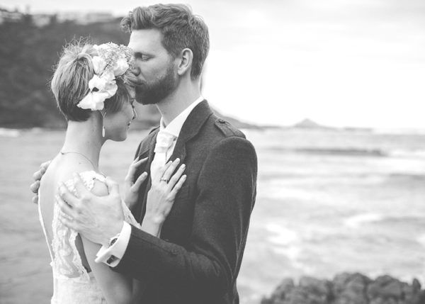Black & White Wedding Portrait, Alastair & Lisa | Featherbed Nature Reserve, Knysna, Garden Route, South Africa - Jacey Searra Photography