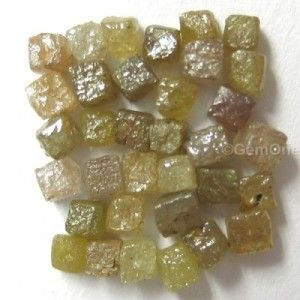 Raw uncut natural rough diamonds in lot of 10 carat congo cube shape in 3.00 to 4.00 size for jewellery that will make your art deco and rough diamond jewelry look marvellous at wholesale price.