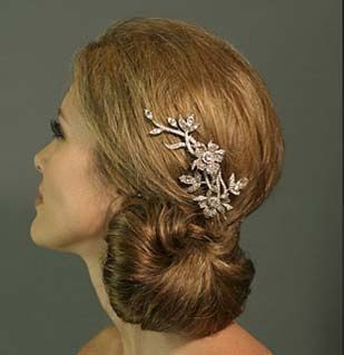 Need opinions for hair (pictures included) :  wedding Clip Bridal Hair Flower