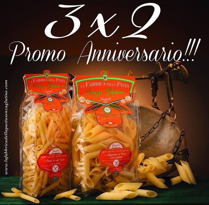 #FabbricaDellaPasta #SenzaGlutine #Gragnano in promozione 3x2 fino ad esaurimento scorte!  #Celiachia #Celiaci #GlutenFree