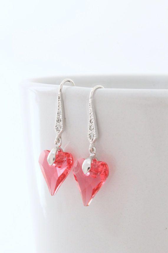 Pink Wedding Earrings, Bridesmaid Earrings
