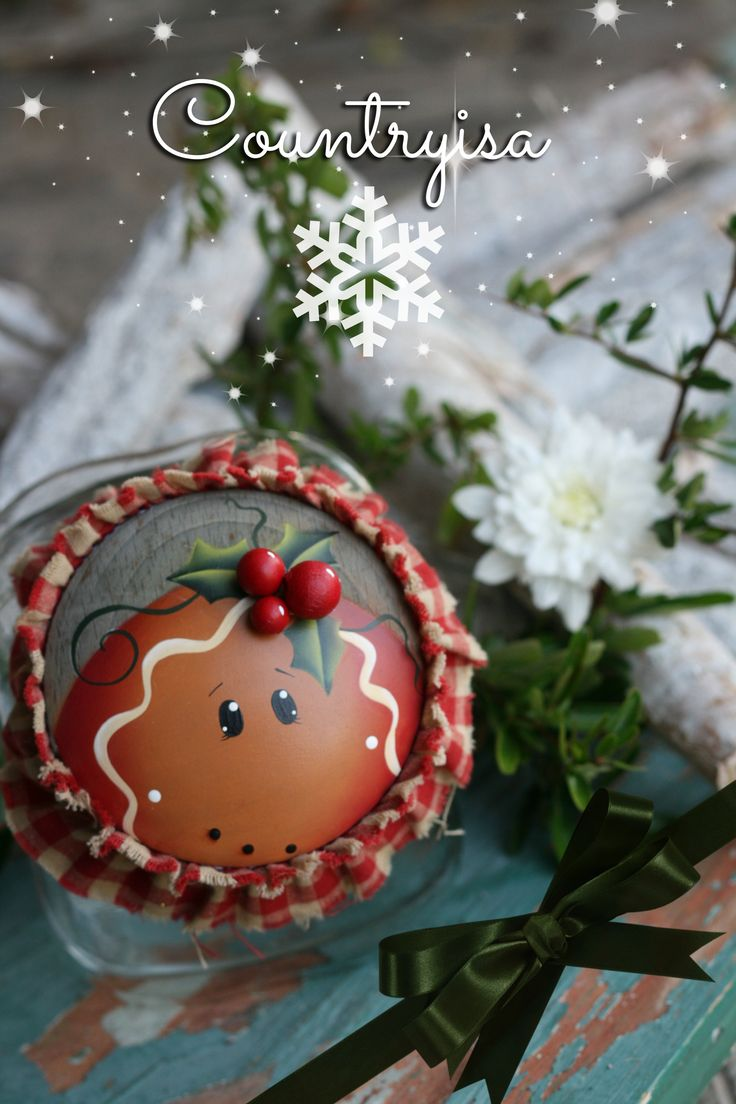 Painted By Me Plum Purdy Design By Reneè Mullins Gingerbread  Ornamentschristmas